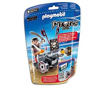 Playmobil Playset de juego Cañón interactivo negro con corsario, ref. 6165 Piratas 1 unidad