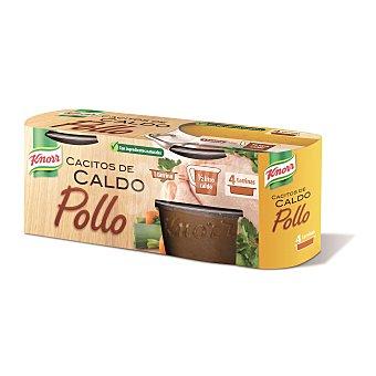 Knorr Cacitos de caldo pollo Pack 4 unidades 28 gr