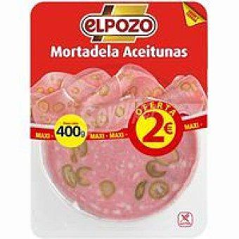 ElPozo Mortadela con aceitunas bandeja 400 g