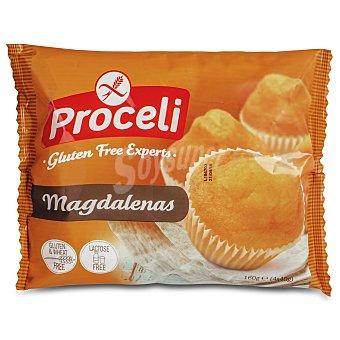 Proceli Magdalenas sin gluten Bolsa 160 g (4 ud x 40 g)