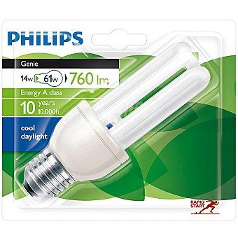 Philips (61 W) lámpara ahorro blanco frío casquillo E27 (grueso) 220-240 V  Genie 14 W 1 unidad