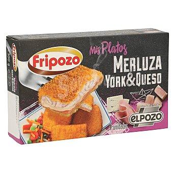 Fripozo Merluza empanada rellena de jamón y queso Mis platos Caja 360 g (4 u)