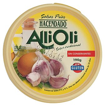Hacendado Salsa Alli-oli Tarrina 190 g