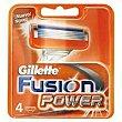 Cargador de afeitar Pack 4 unid GILLETE Fusión Power