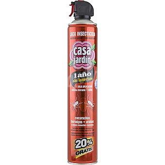 CASA JARDIN insecticida en laca para cucarachas hormigas arañas e insectos rastreros spray 750 ml