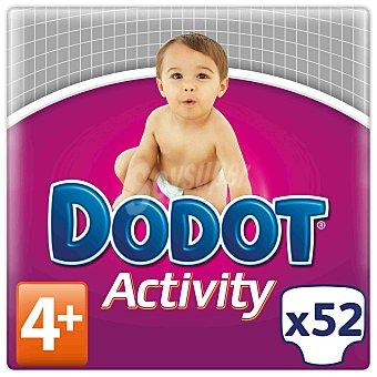 Dodot Activity Pañal talla 4 extra (11-16 kg.) 52 ud