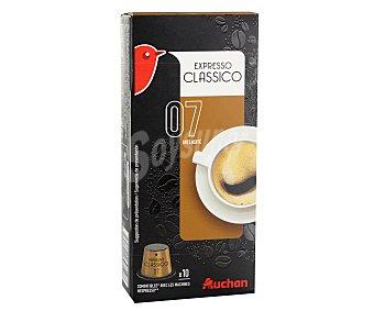 Auchan Café molido de tueste natural clásico en monodosis 10 unidades 55 gramos