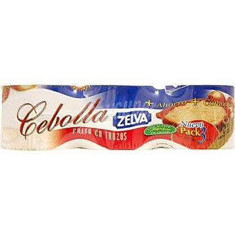 Zelva Cebolla frita en trozos pack3 lata 190 g