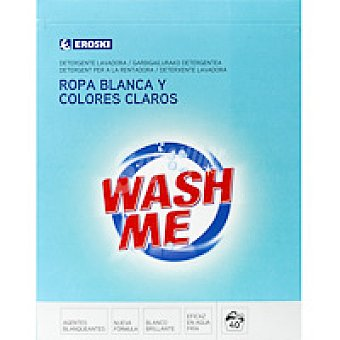 Eroski Detergente en polvo Maleta 40 cacitos