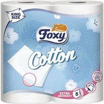 Foxy Papel higiénico Cotton 5 capas paquete 4 rollos