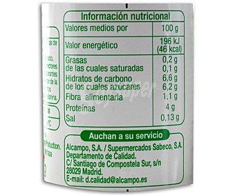 Auchan Yogur desnatado con fresas 4 unidades de 125 gramos
