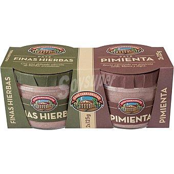 Casa Tarradellas Paté de finas hierbas + pate a la pimenta Pack 2 frasco 125 g