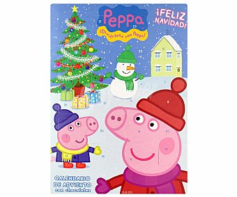 PEPPA PIG Calendario Adviento de chocolate 50 gramos