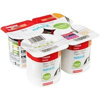 Eroski Basic Yogur natural Pack 4x125 g