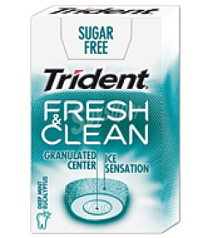 Trident Chicle fres clean eucalyptus trident 1 ud