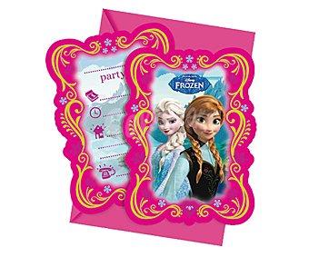 Disney Invitaciones de papel con sobres y diseño Frozen Pack de 6 unidades