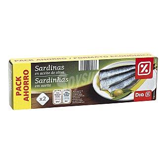 DIA Sardinas en aceite de oliva Pack 2 latas 88 gr
