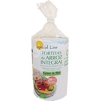 Special Line Tortitas de arroz integral bio sin gluten Envase 100 g