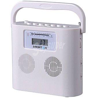 BRIGMTON W-407 Radio digital CD compacto portátil en color blanco