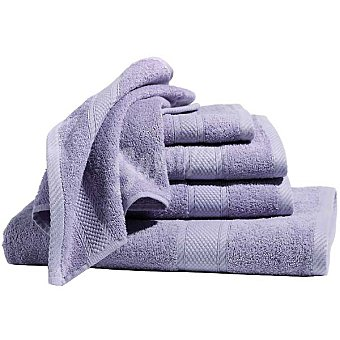 CASACTUAL Araceli set 2 toallas de lavabo lisas de rizo americano en color lila
