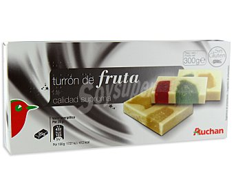 Auchan Turrón de fruta 300 gramos