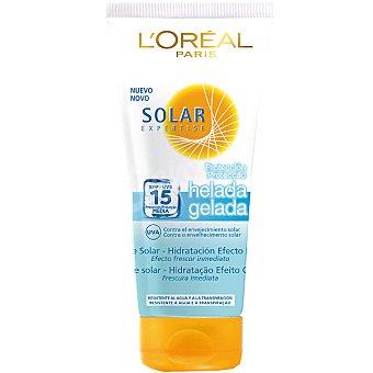 Expertise L'Oréal Paris Leche solar Icy Protect FP-15 efecto frescor inmediato resistente al agua Tubo 200 ml