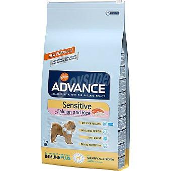 ADVANCE Sensitive Alimento de alta gama para perros adultos de todas las razas rico en salmón bolsa 12 kg Bolsa 12 kg