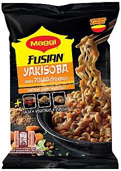Maggi Fusian Fideos orientales con sabor a pollo Yakisoba Sobre 120 g
