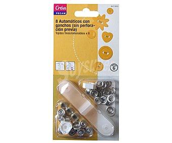 STYLE Corchetes de presión con accesorios style Pack de 8