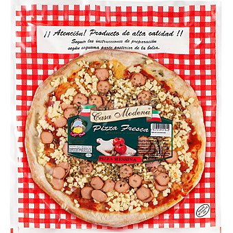 CASA MODENA Messina Pizza artesana con frankfurt Envase 300 g