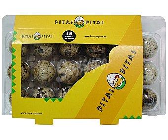 Pitas Huevos frescos de codorniz 18 uds