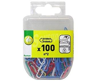 Productos Económicos Alcampo Clips plastificados de colores del número 2 100 unidades