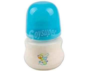 Baby Auchan Biberón boca ancha, tetina de silicona, flujo normal, azul 150 Mililitros 1 Unidad