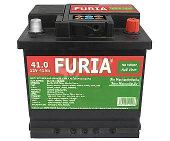 FURIA Batería de Arranque 12 Voltios 41Ah , Potencia de Arranque: 360 Amperios, Medidas: 207x175x175 Milímetros 1 Unidad