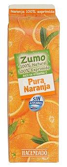 Hacendado Zumo naranja exprimida 100% (sin azucar) Brick 1 l