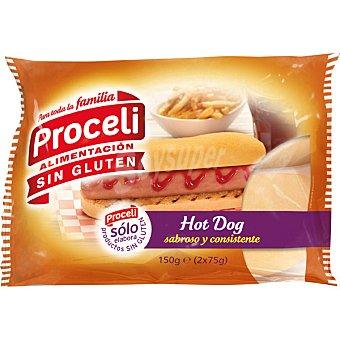 Proceli Pan Hot Dog sin gluten Pack de 2x75 g