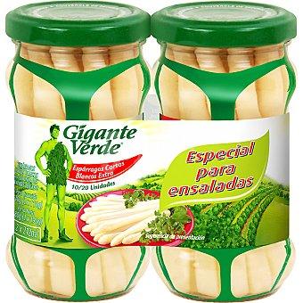 Gigante Verde Espárragos blancos especiales para ensaladas neto escurrido Pack 2 tarro 100 g