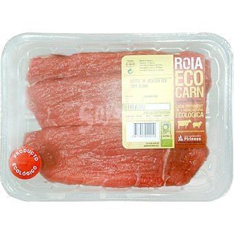 PIRINEUS Ternera ecologica Roia contra 1ª A en filetes bandeja 600 g peso aproximado Bandeja 600 g