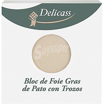 Delicass Bloc de foie gras de pato con trozos 40g
