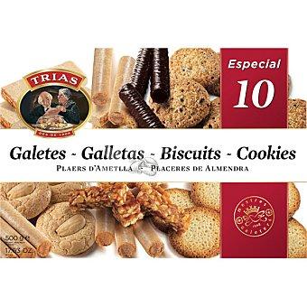 Trias Surtido Especial nº 10 galletas y barquillo Estuche 500 g