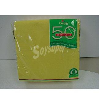Condis Servilleta amarilla 40X40 50 UNI