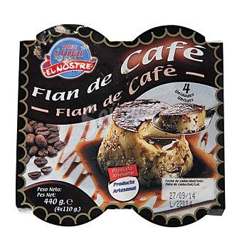Lago y Puig Flan de café Pack de 4x27 g