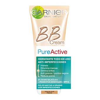 Skin Naturals Garnier Crema BB Cream toque de color medio Pure Active 30 ml
