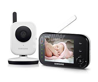 """Samsung Vigilabebé con visión nocturna, imagen y audio en alta velocidad, pantalla de 3,5"""" lcd, SEW 3036."""