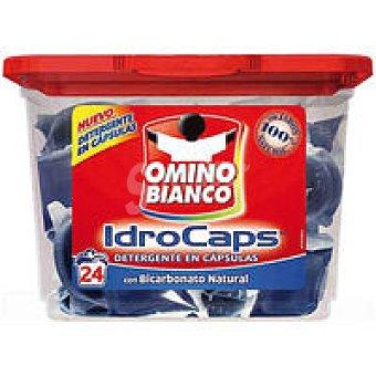 Omino Bianco Detergente en cápsulas azul blanq. Caja 24 dosis