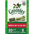 Snacks dentales para perros entre 12-22 kg Envase 6 unidades Greenies