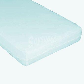 CASACTUAL  Funda para colchón azul y elástica para cama de 150 cm 1 unidad