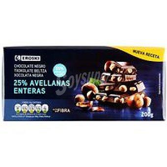 Eroski Chocolate negro-avellanas Tableta 200 g