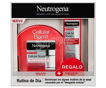 Neutrogena Crema de día antiedad con FPS 20 y contorno de ojos anti-arrugas Cellular bost
