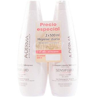 A-Derma Sensifluid Dermopan Líquido Sobregraso - Higiene Diaria de las Pieles Sensibles Bote 1 litro